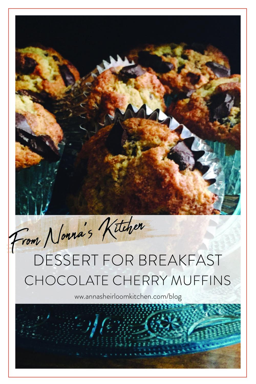 DESSERT-FOR-BREAKFAST-CHOCOLATE-CHERRY-MUFFINS
