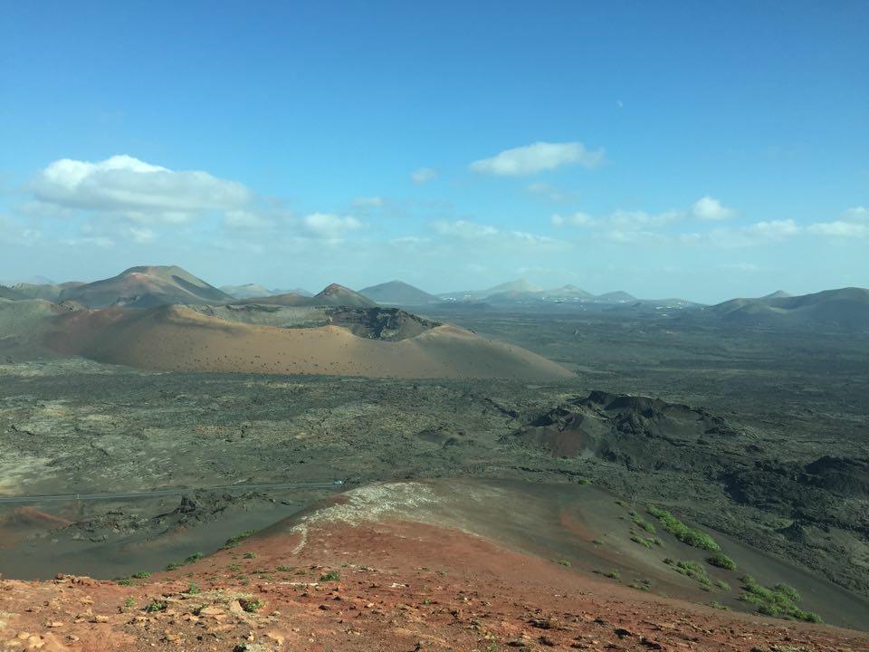 Timanfaya nationalpark, coola vulkaner. Kändes som att man var på Mars.