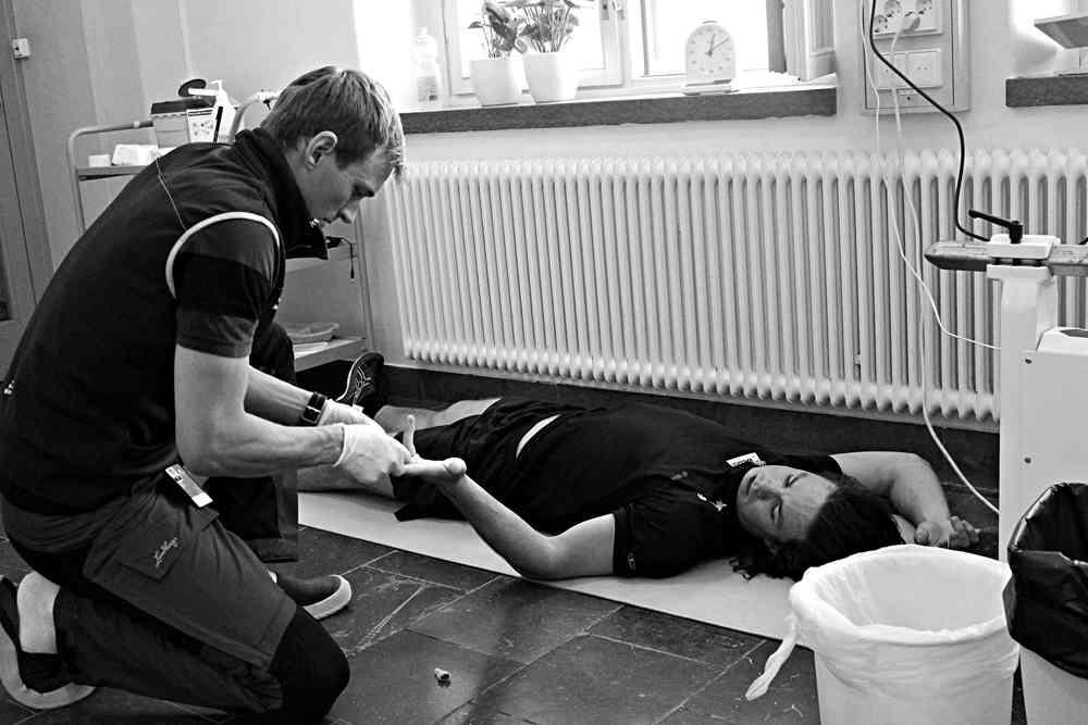 Blodprov efter urmaxningen