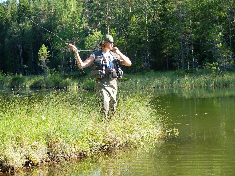 Bäckrödingfiske där jag fick en del fisk, dock extremt smått så inget att hurra över