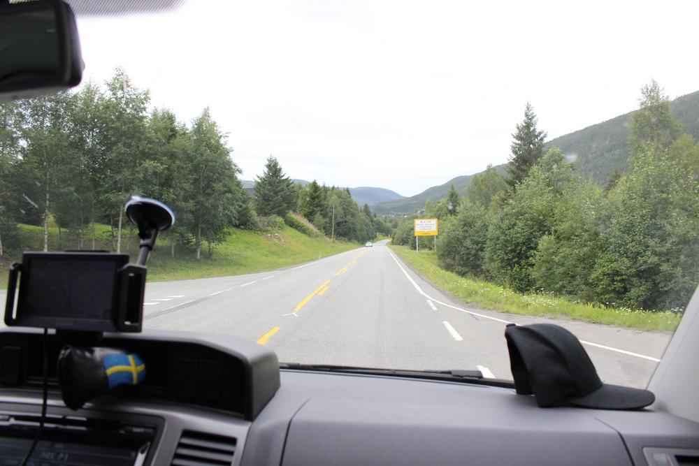 Det är svårt att uppskatta vägarna i Norge när medelhastigheten är 60km/h.