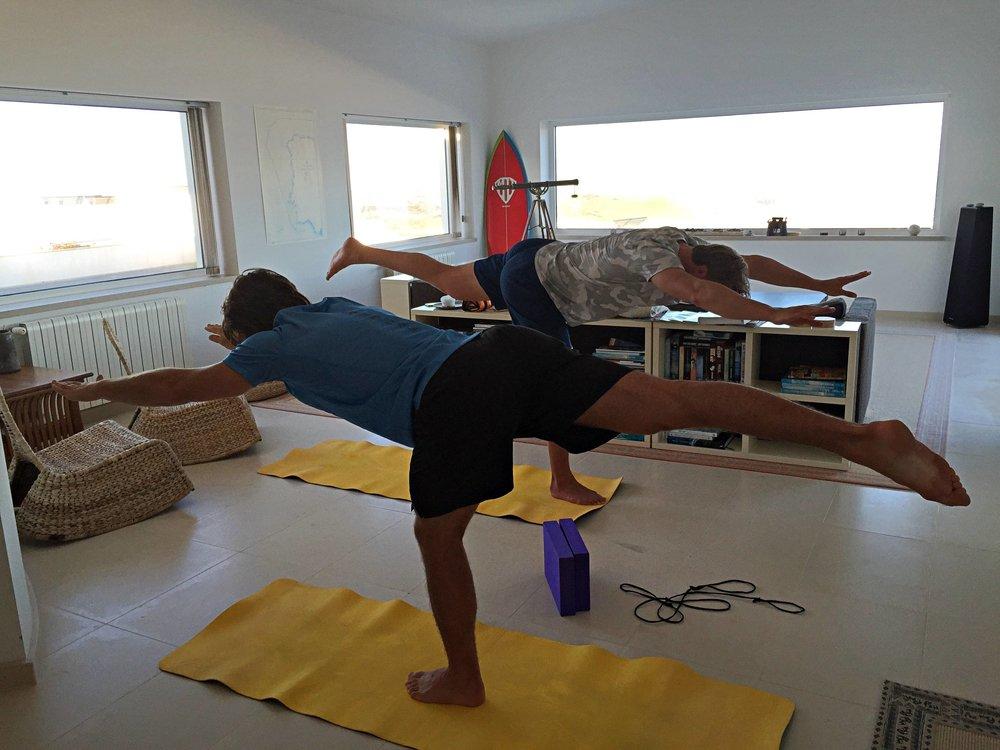 Hunnit med en del yoga/rörlighet då vi känt oss jäkligt stela efter Saas Fee.