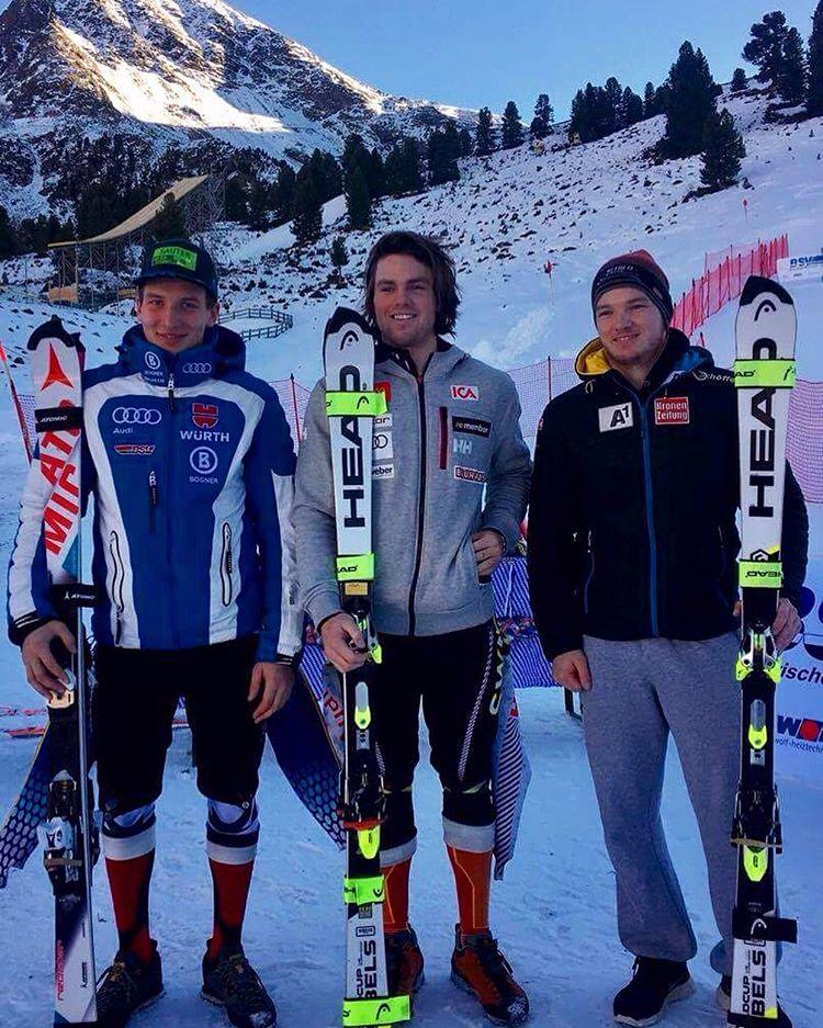 Sedan bar det av mot alperna där jag lyckades vinna min första FIS-slalom någonsin :)