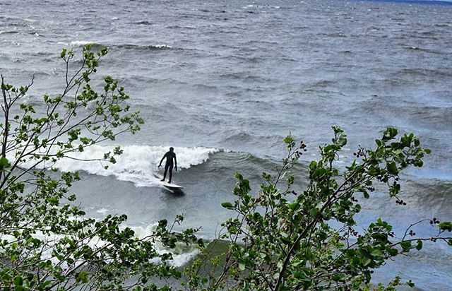 Maybe the only place in Jämtland with both rights and lefts within walking distance 😄🤣 #lakesurf