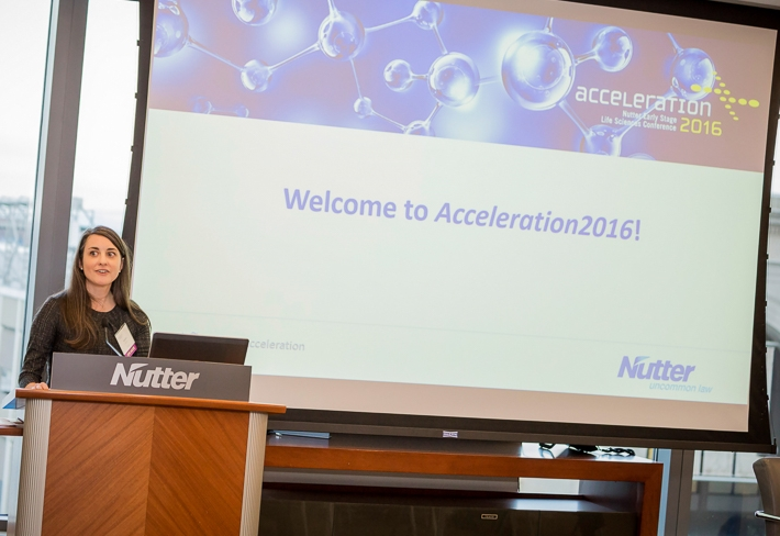 nutter partner, heather repicky, delivered the opening remarks at acceleration2016