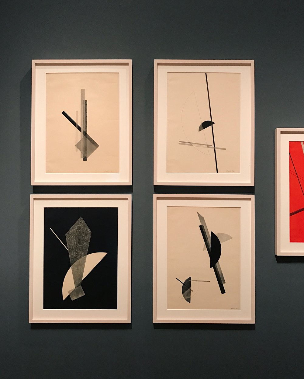 "László Moholy-Nagy ,  ""19,""  1921, oil on canvas"