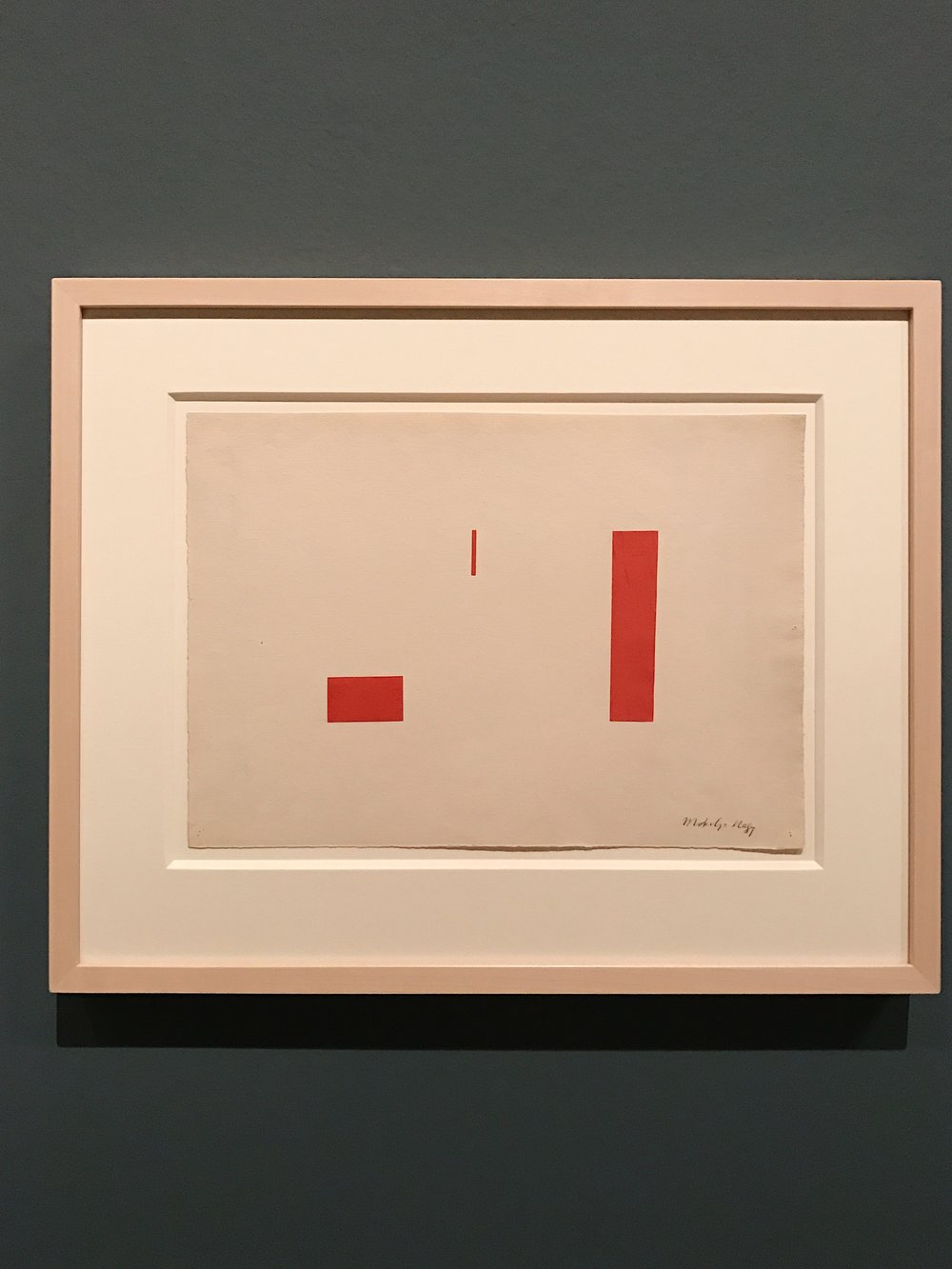 "László Moholy-Nagy ,  ""F in Field""  1920 gouche and collage on paper"