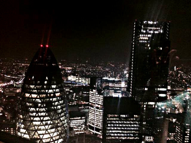 The view from the loos at Sushi Samba