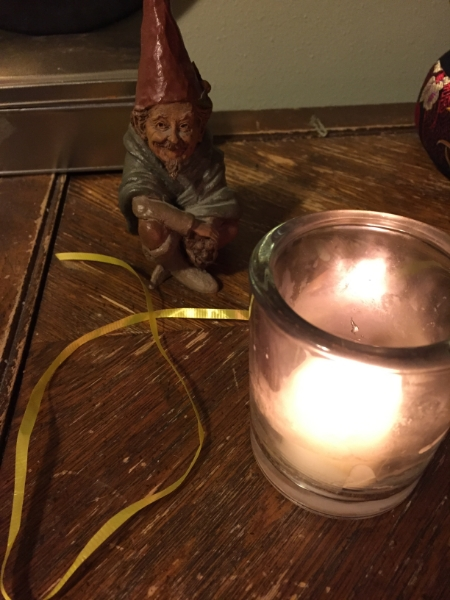 Gnome with Ribbon from the Crealitation Ball of Peace