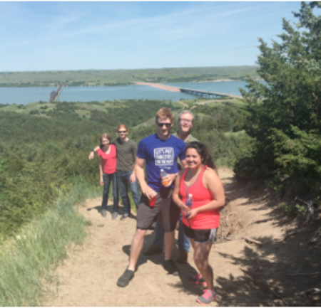 Taking time to hike near the Missouri River on our recent family excursion