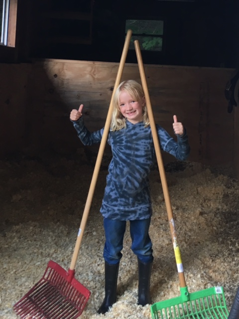 Our farm theme is Crealitation (The Art of Creating Reality). Above: Louise Dharma-Moon, 7 Year old daughter to Maze and Camp Now Family Farm Host