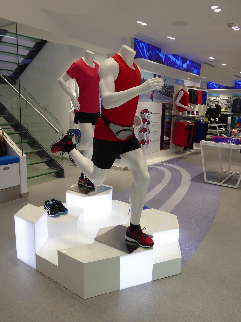 ASICS retail fixtures