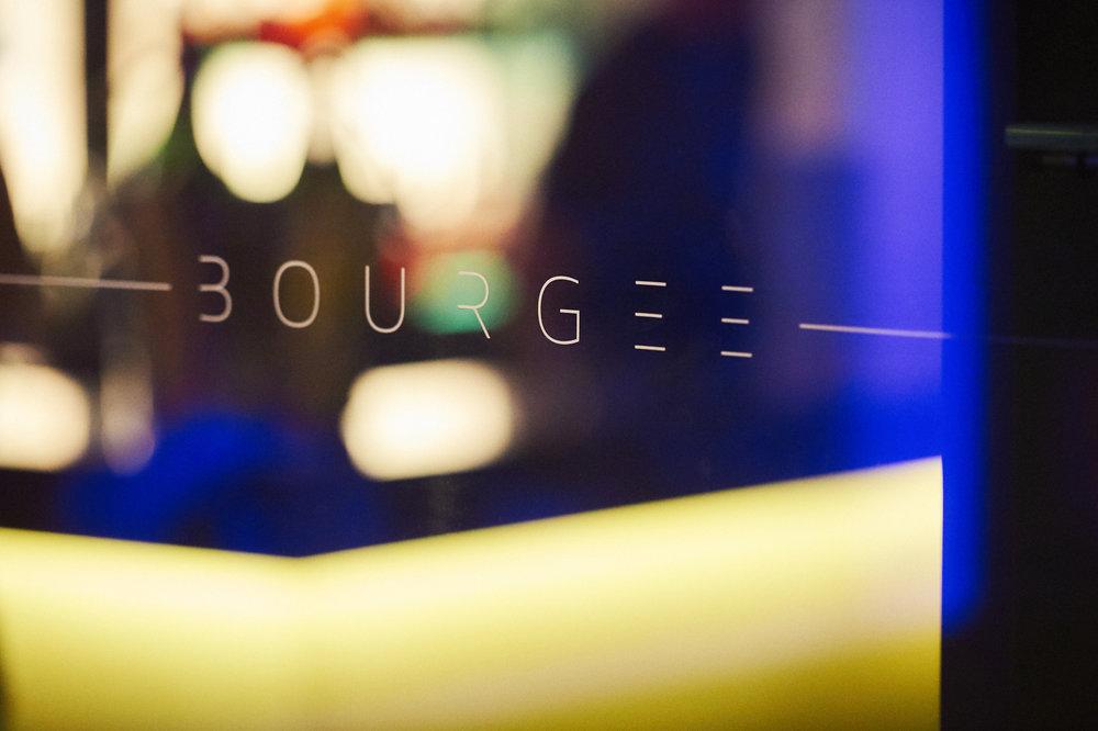 Bourgee signage