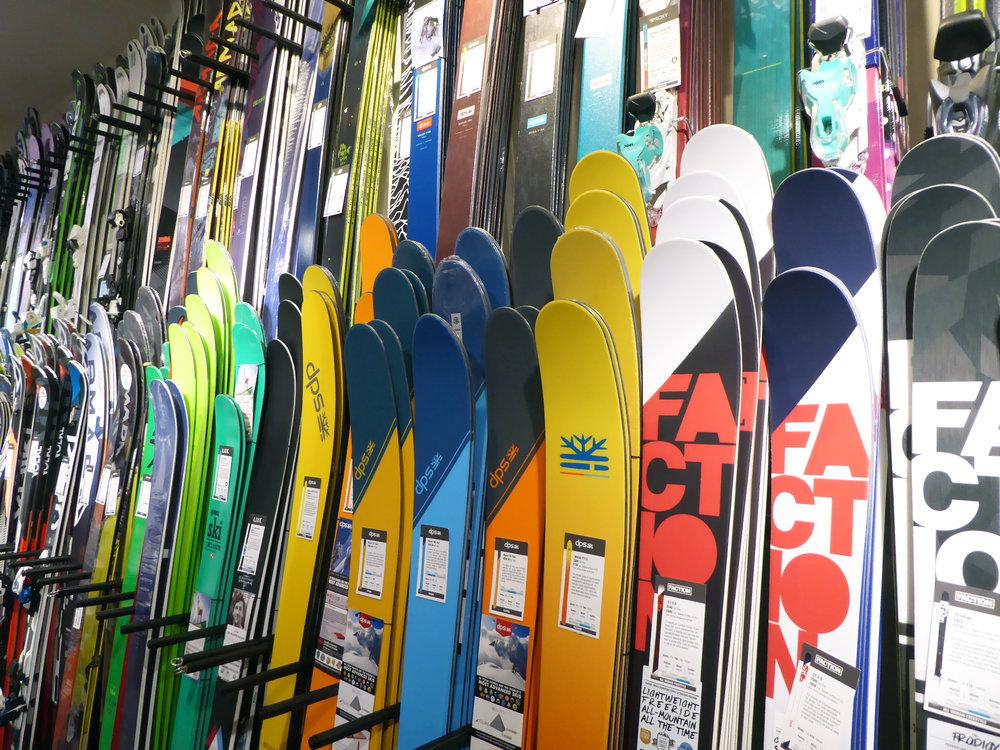 Ellis Brigham ski wall