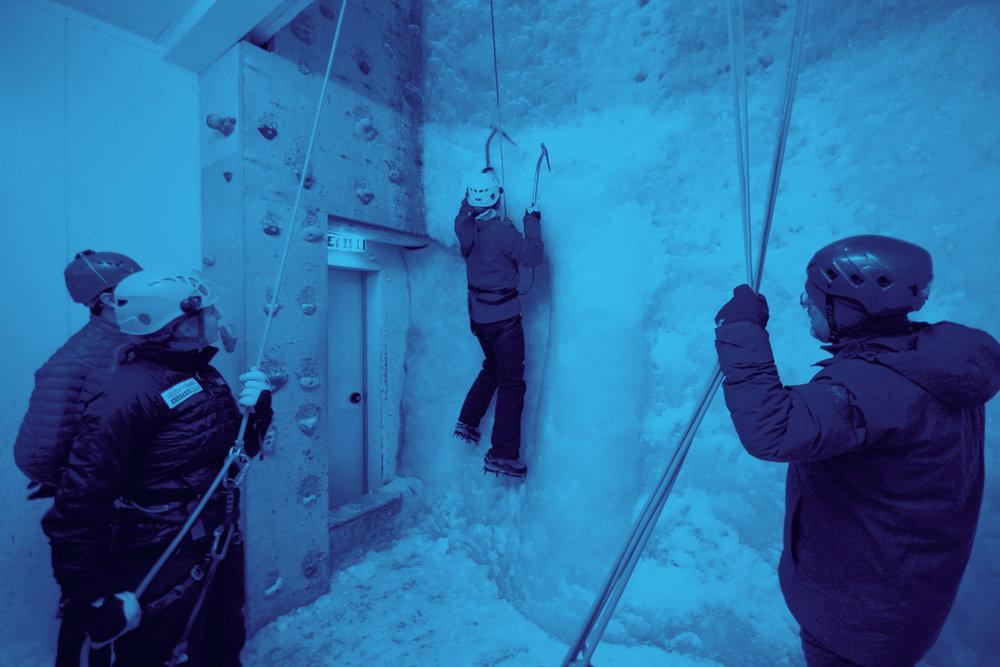 Ellis Brigham ice wall