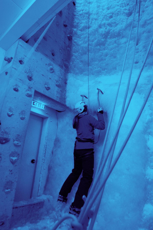 Ellis Brigham climbing wall