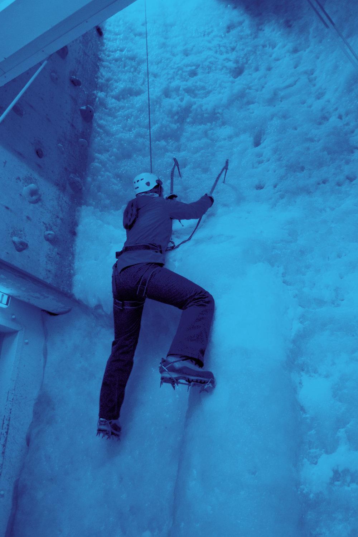 Ellis Brigham ice climbing wall