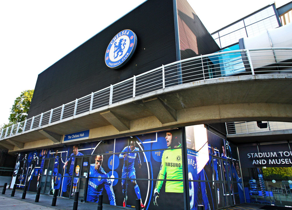 Large-format impactful graphics at Chelsea F.C's Museum & stadium tours