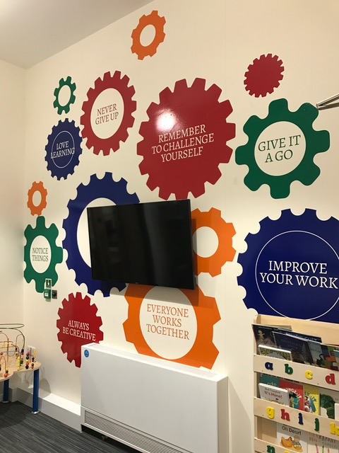 Vinyl lifestyle graphics for Holy Cross Primary School