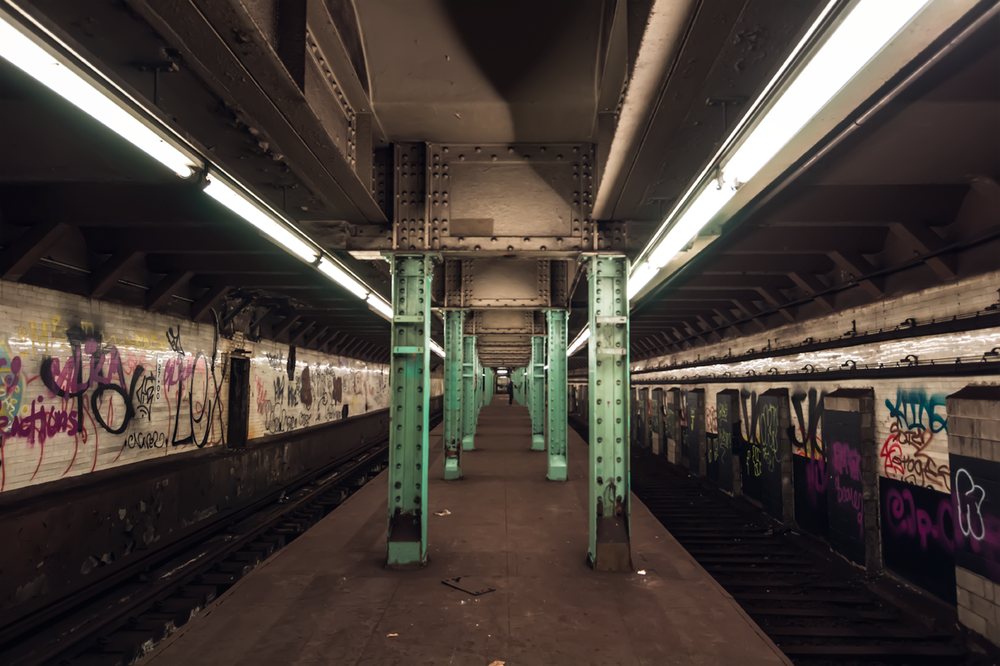 Here's a shot of the abandoned Canal station in NYC