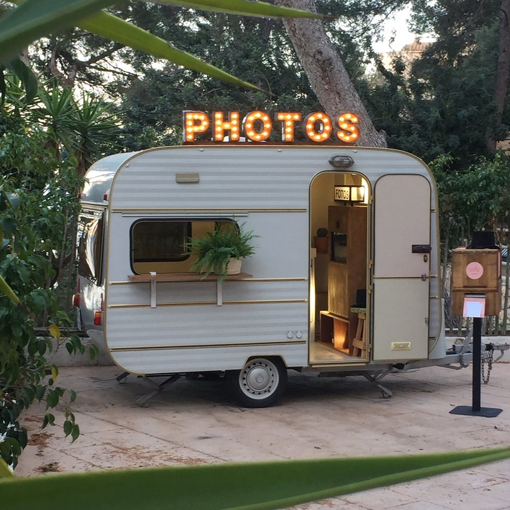 photo booth caravan mallorca events