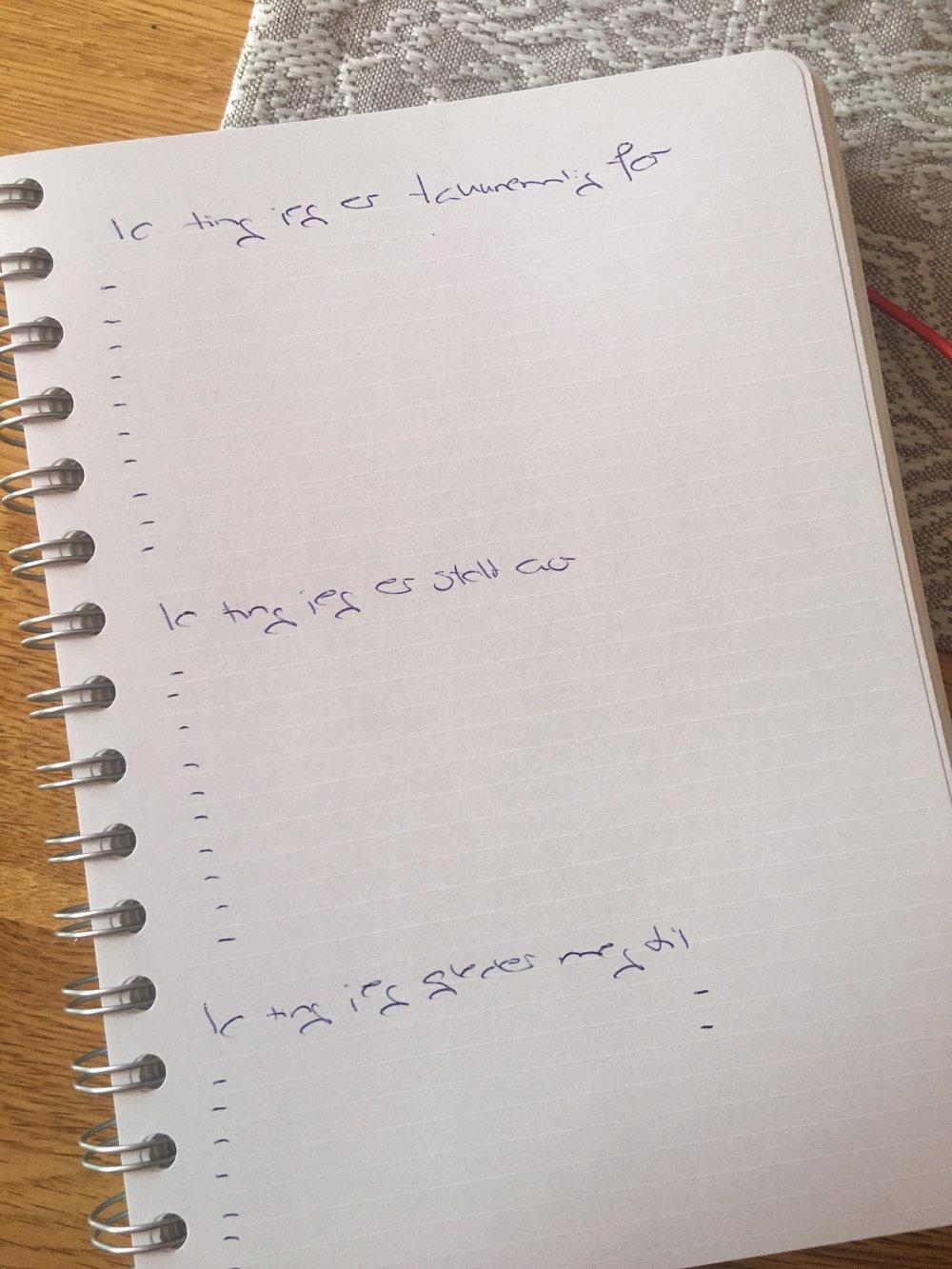 Utfordringen (oppfordringen) fra siste pod....enda skumlere...dette skal gjøres HVER dag...tror dere jeg klarer å gjøre dette til imorgen....og legge det ut her???