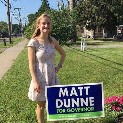 Thanks Sophia Webb from Shelburne for showing us how you are supporting Matt! #vtpoli
