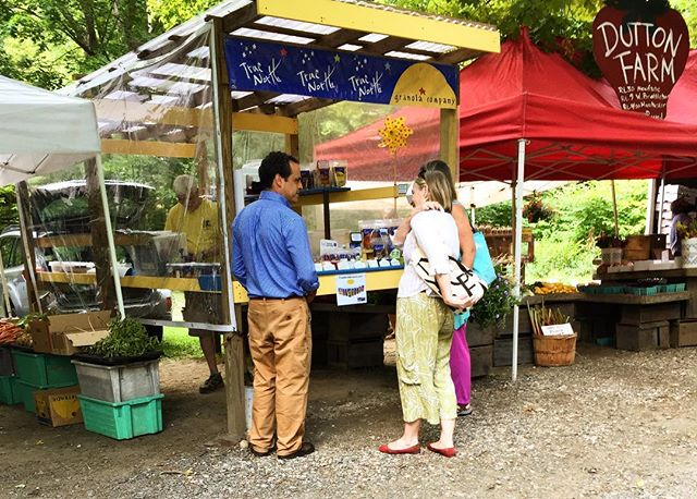 Loved stopping by the Brattleboro Farmers Market and seeing local #vtbiz and #vtfarms like True North Granola and Dutton Farm #vermontbyvermonters
