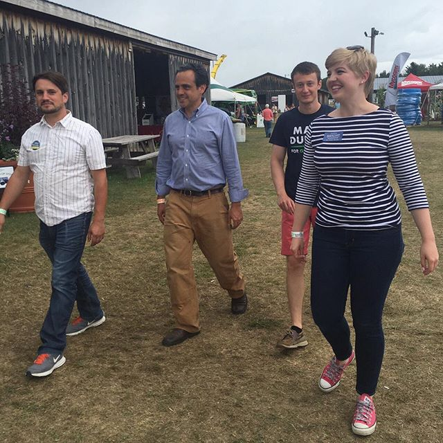 Wonderful to attend Franklin County Field Days with Mike McCarthy for Saint Albans State Representative and Caroline Bright for State House! Great to see Treasurer Beth Piece and stop by Franklin County Maple Sugarmakers Association. #vermontbyvermonters #vtpoli