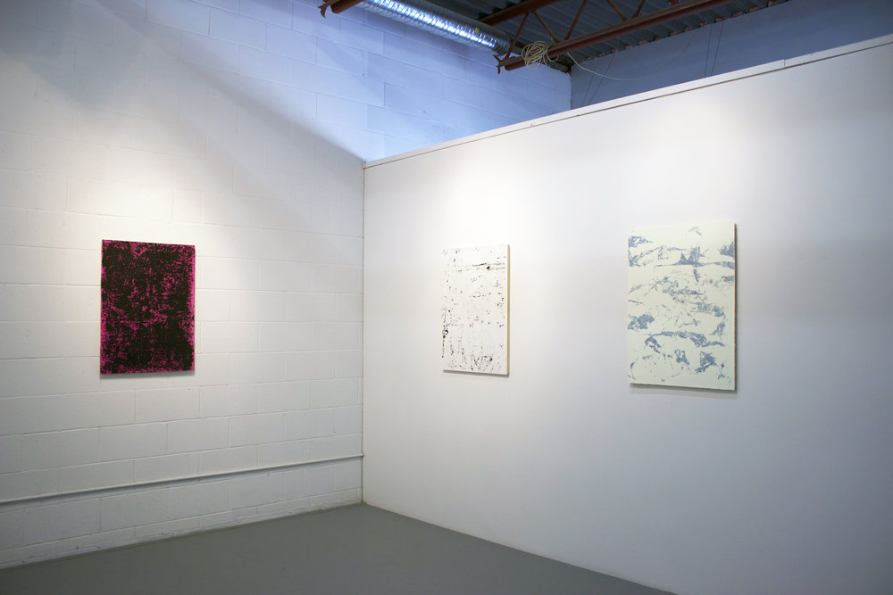 Installation view of Six Paintings THE BAKERY 2016
