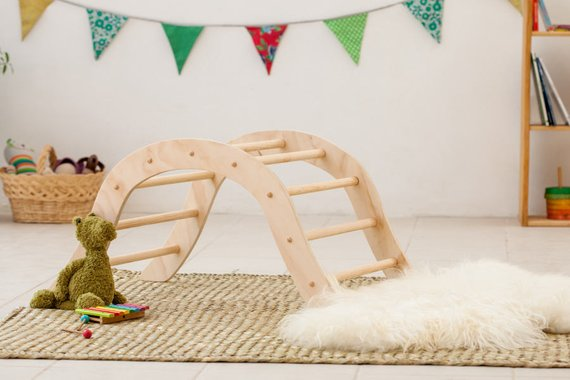 Montessori Wooden Climbing Gym