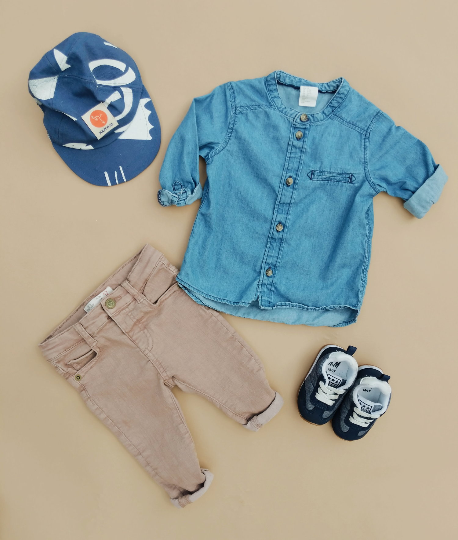 552751d2 Hip-Baby-Boy-Clothes-03.jpg. Hat from PULP CO. / Shirt from H&M / Pants  from ZARA / Shoes ...