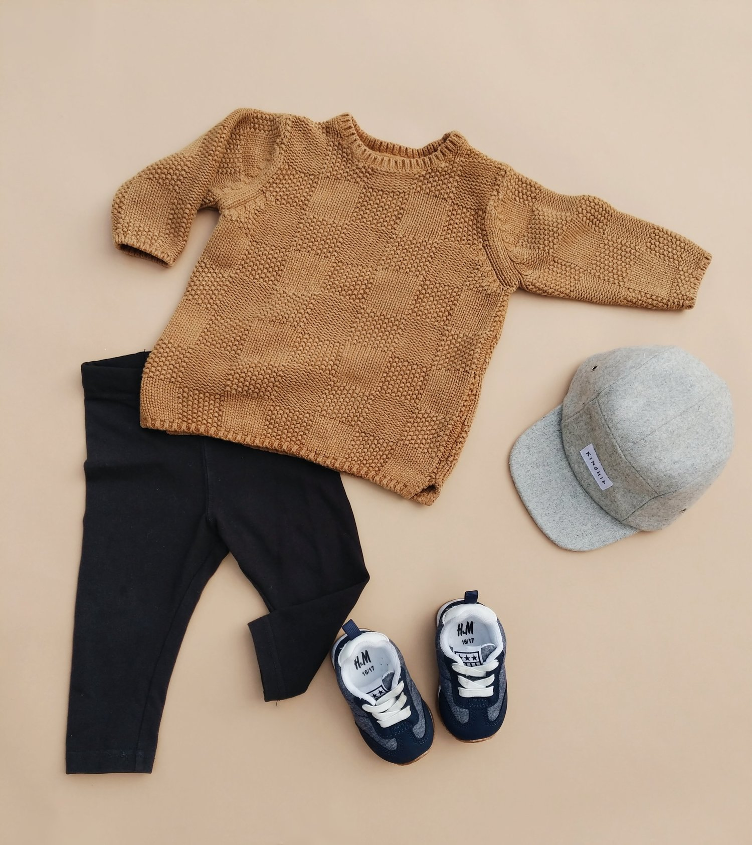 f1ee74a8 Hip-Baby-Boy-Clothes-05.jpg. Sweater from ZARA / Pants from H&M / Hat from  KINSHIP CAP / Shoes from H&M