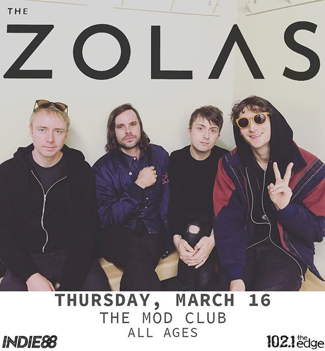 TORONTO I'm dead delighted to announce we get to see u March 16th, ALL-AGES at the Mod Club. Tickets go on sale Thursday. Tag all interested parties. 😘-Z