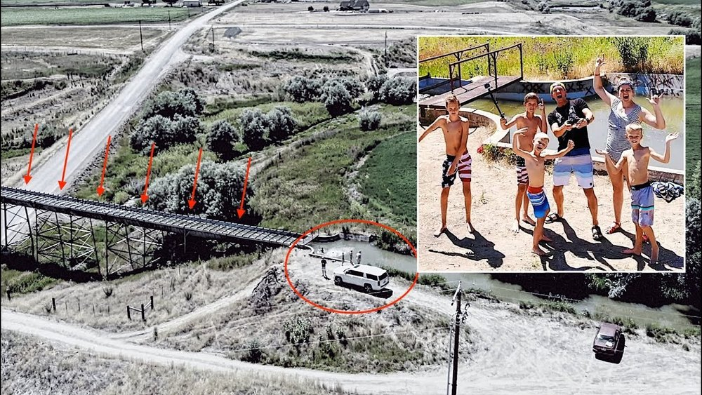 DAVIS FAMILY SWIMS IN SECRET WATER CANAL FLUME (DANGEROUS?) - CLICK HERE TO WATCH IT