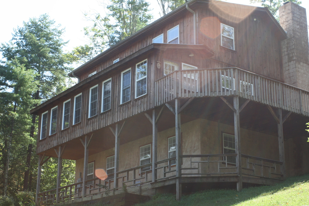A view from below the Vermillion House, one of the lodging options at DBI.