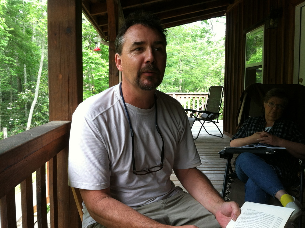 David Gessner leading a front porch non-fiction retreat