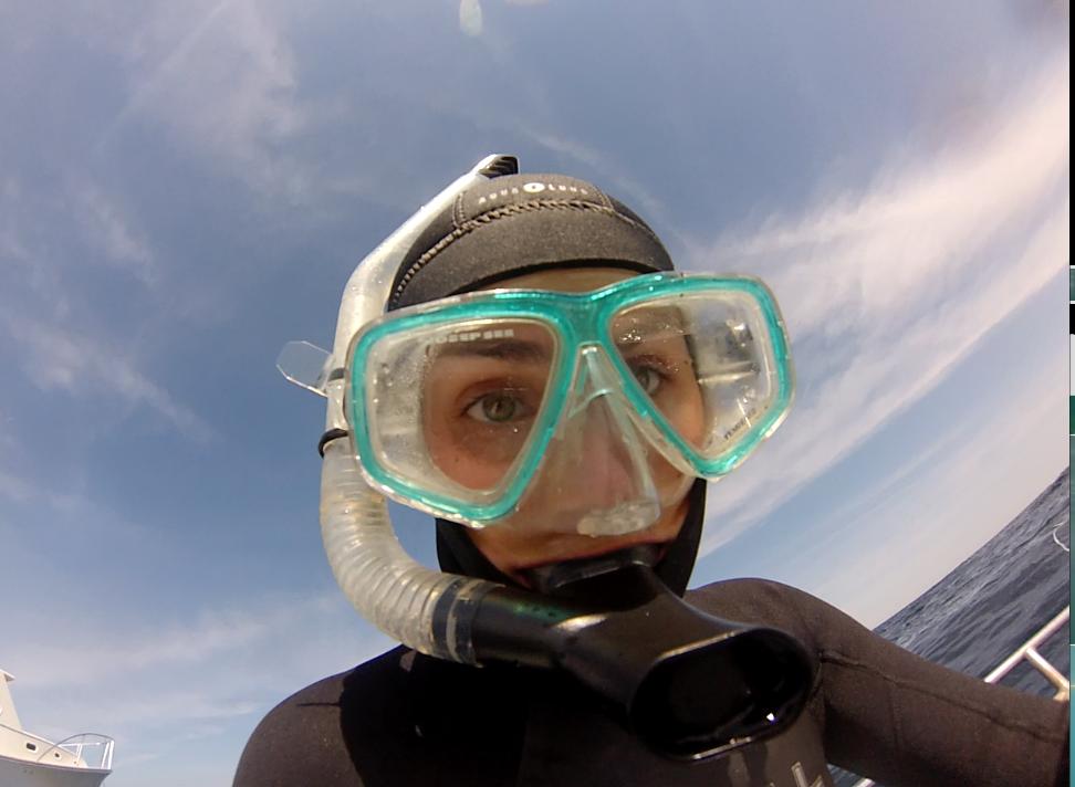 Katie snorkeling