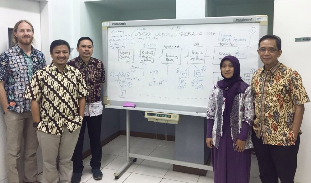 Austin and collaborators at IPB in Bogor, Indonesia