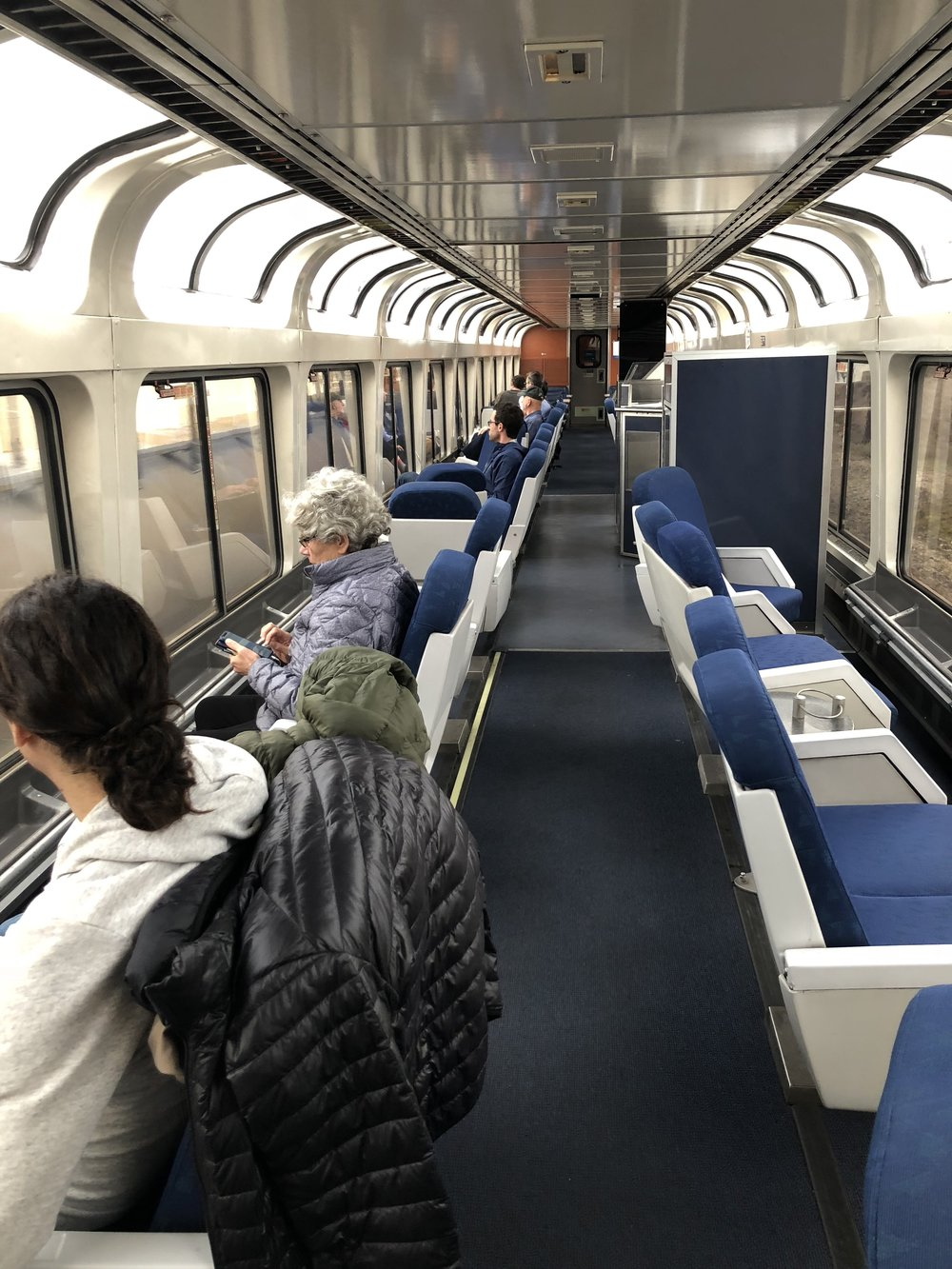Amtrak has special cars for taking in the scenery
