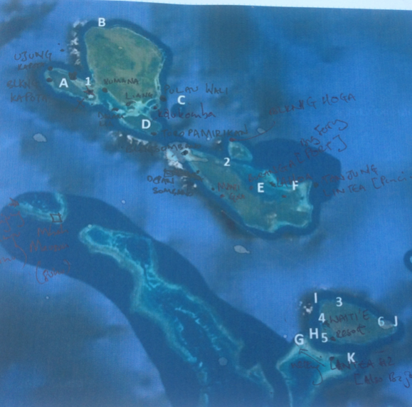 Trying to map fishing grounds