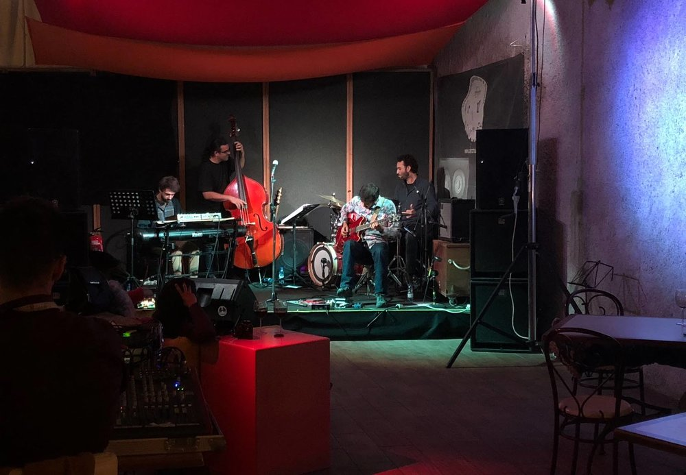 Live experimental jazz was a highlight of Faro, Portugal.