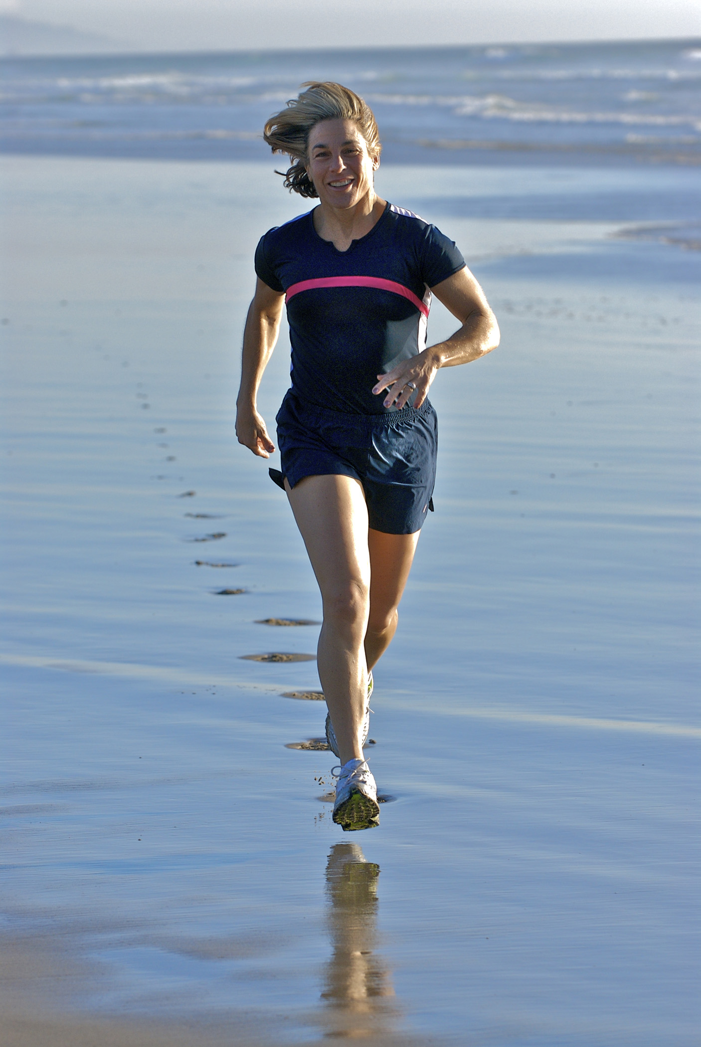 Running on the beach!