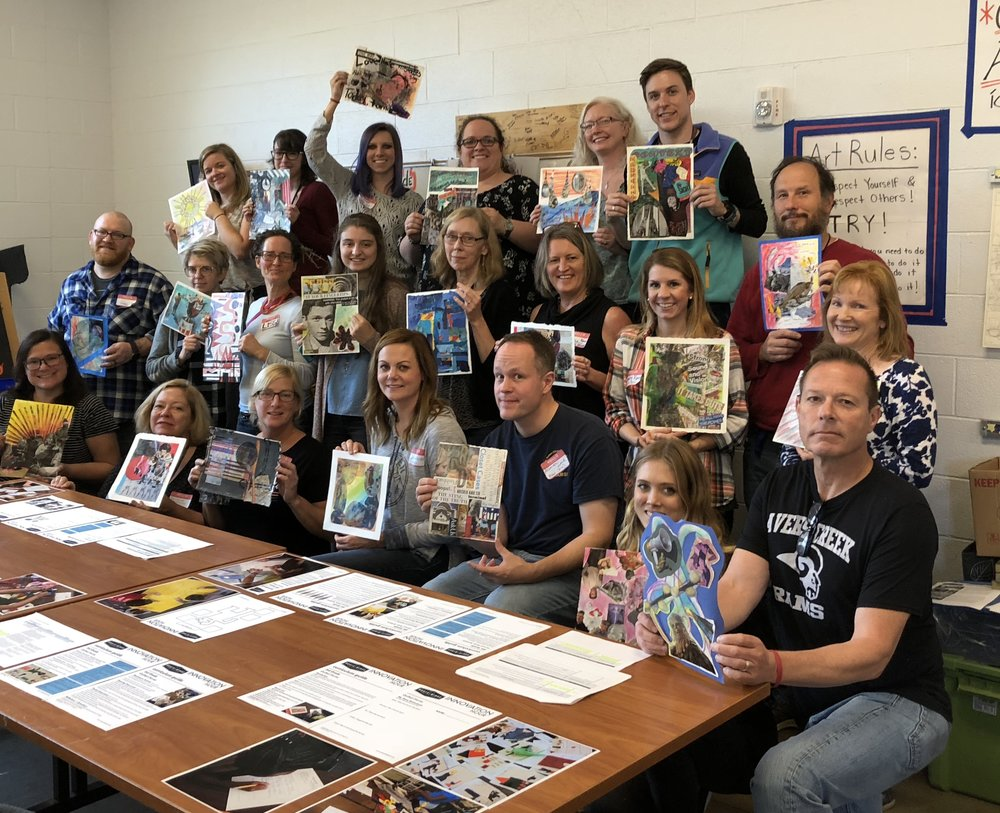 Arts Integration INNOVATION HOUR™ Professional Development day with all of the Buncombe County Schools Art Educators