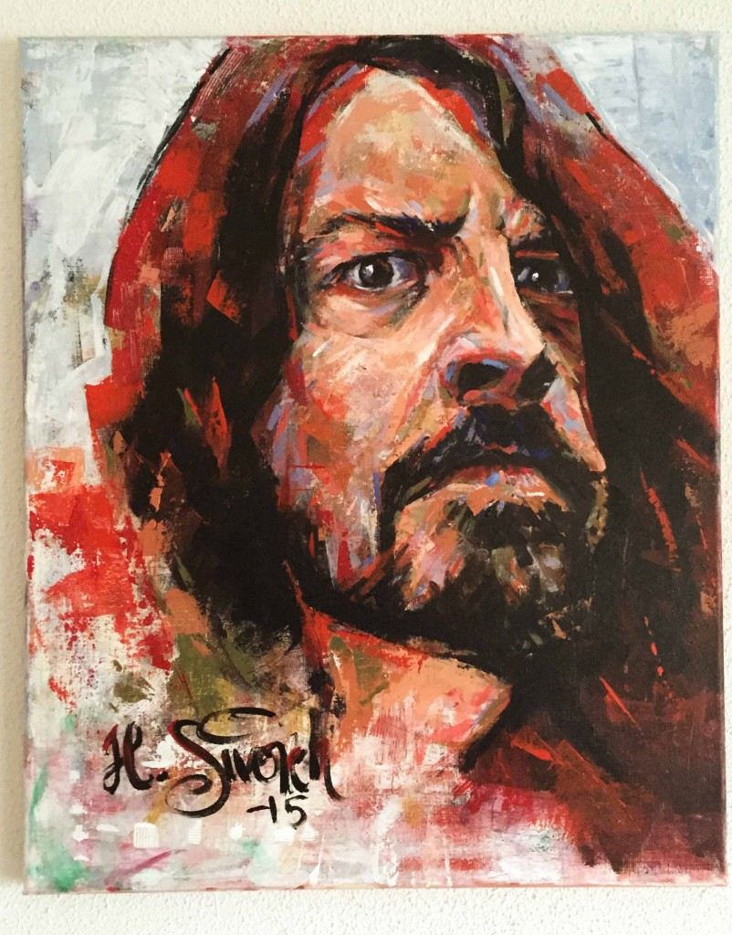 Dave Grohl painting by Heikki Siivonen