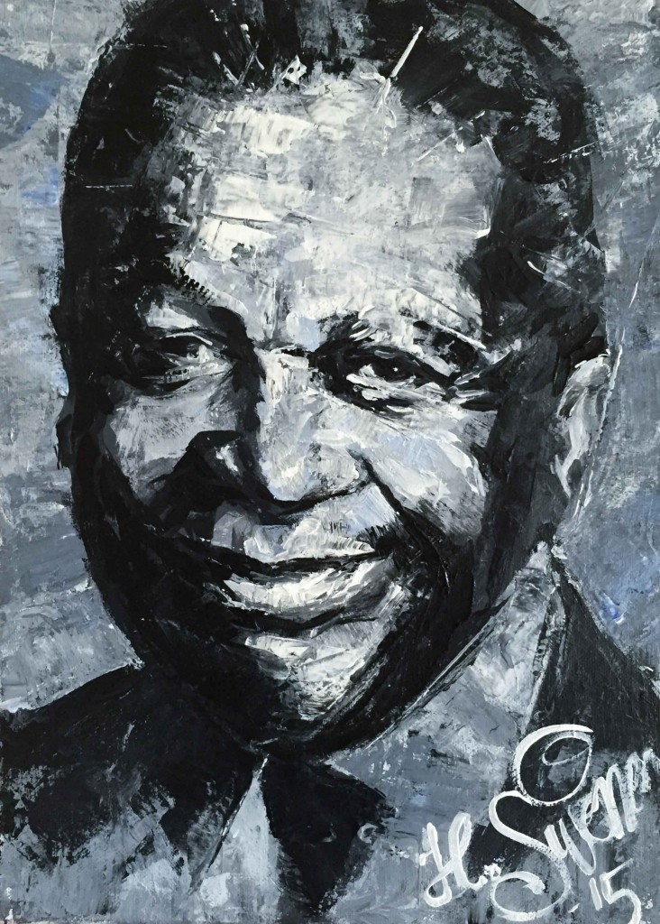 B.B. King portrait by Heikki Sivonen 2015