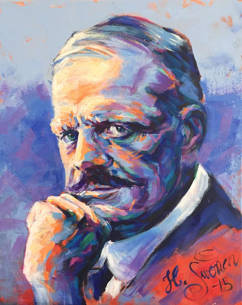 Jean Sibelius painting Heikki Sivonen