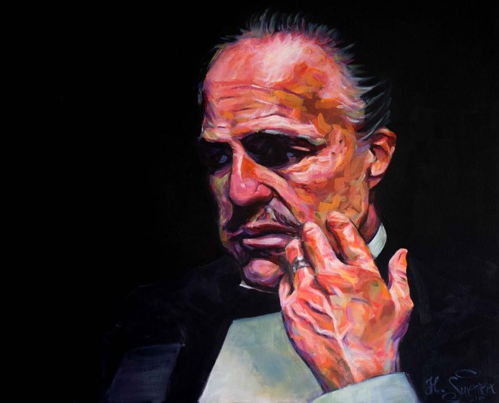 Vito Corleone painting Heikki Sivonen