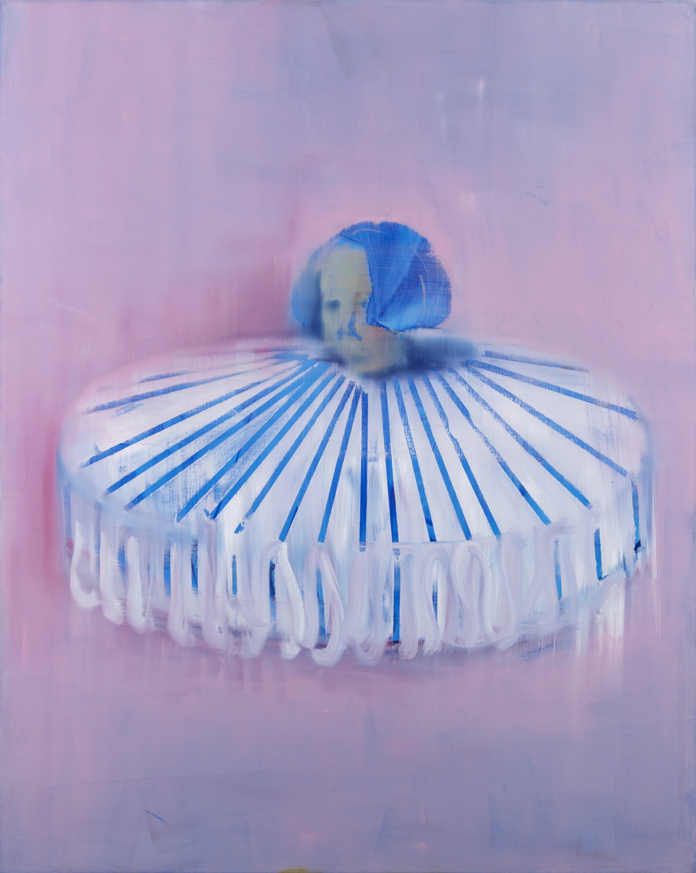 Big Collar with Blue Stripes, 2014