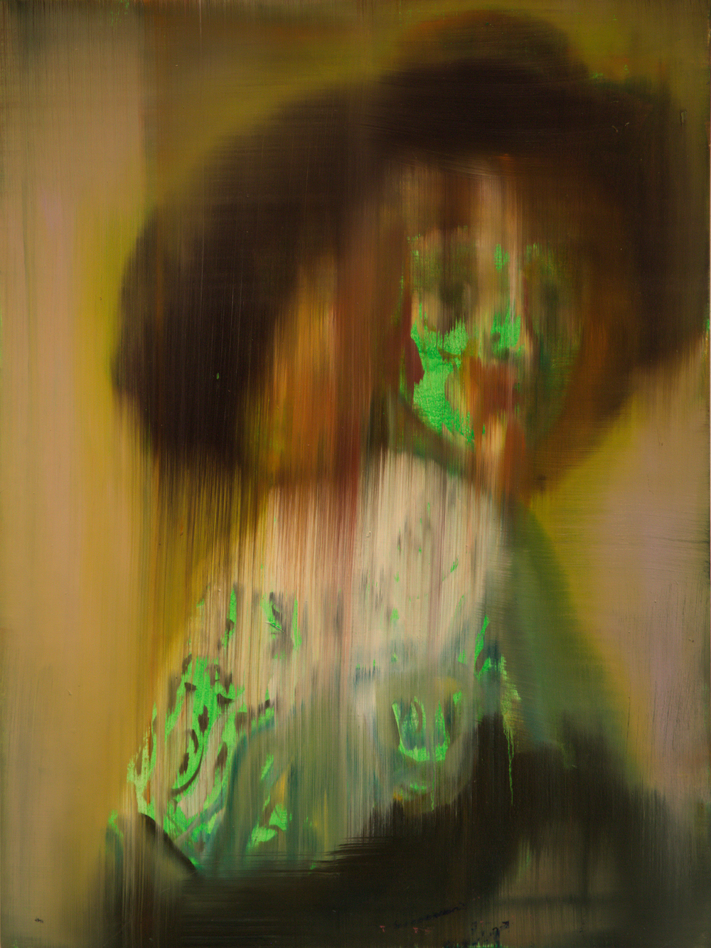 Green Portrait of Anthonie Coopal (after Rembrandt), 2013